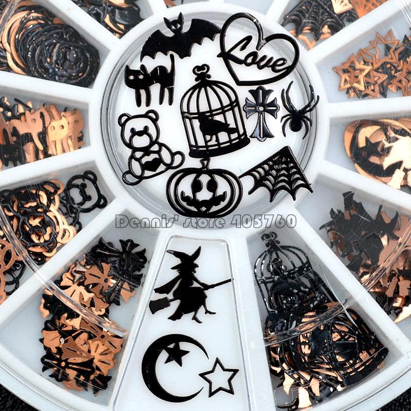 Black Mix Halloween Shape gem wheel - Kitty Cactus
