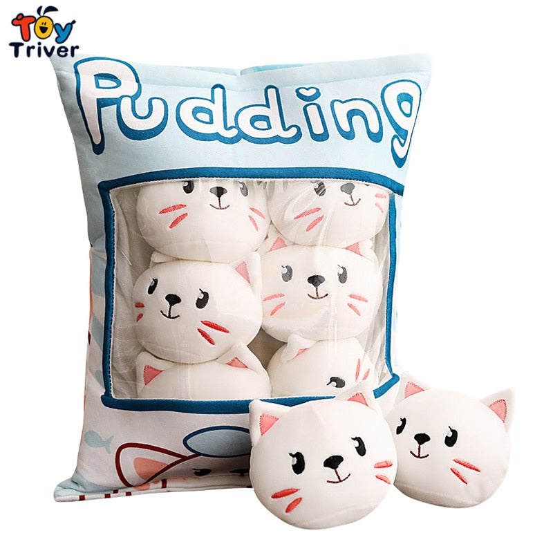 Pudding Cats in a bag! Cat Plushies