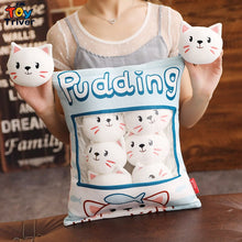 Load image into Gallery viewer, Pudding Cats in a bag! Cat Plushies
