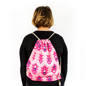 stop at the pink light backpack