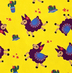 hello and llamaste fabric