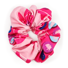 Load image into Gallery viewer, stop at the pink light scrunchie