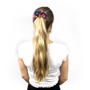 a little red in the tulip scrunchie