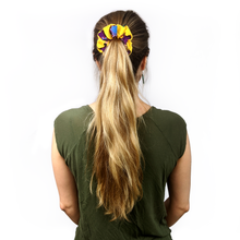 Load image into Gallery viewer, hello and llamaste scrunchie