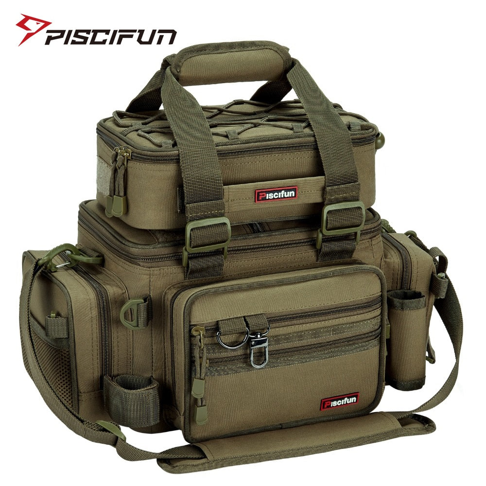 Piscifun Large Capacity Fishing Bag - Gearedupfishing