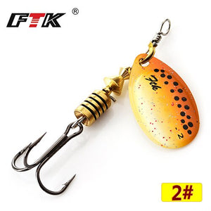 FTK Spinner Bait Metal Spoon Lure - Gearedupfishing