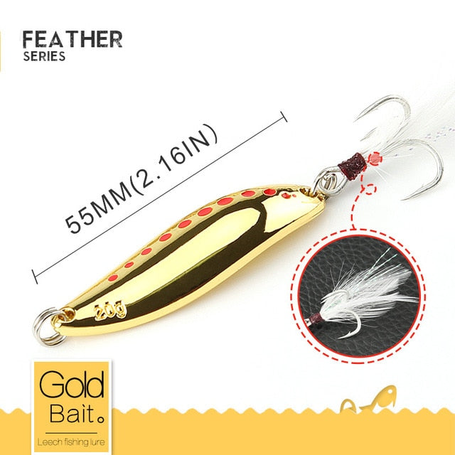 Spotted silver/gold fishing spoon - Gearedupfishing