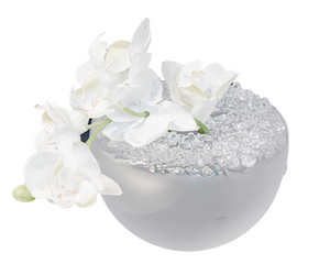 White Frosted Bud Vase
