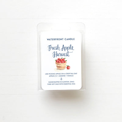 The Apple scented natural soy wax melt by Waterfront Candle