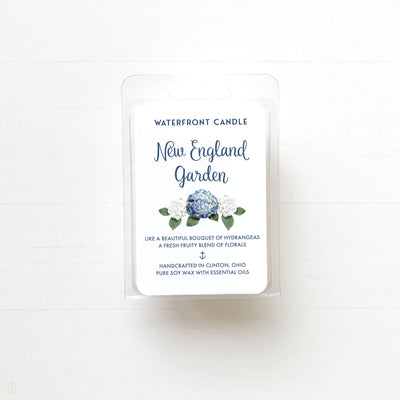 The New England Garden Love Spell scented natural soy wax melt by Waterfront Candle
