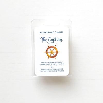 The Captain soy wax melt by Waterfront Candle.