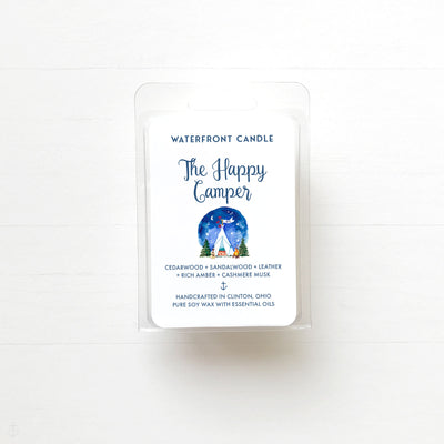 The Happy Camper hand poured soy wax melt by Waterfront Candle.
