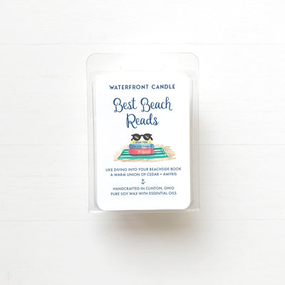 Best Beach Reads book scented soy wax melt by Waterfront Candle
