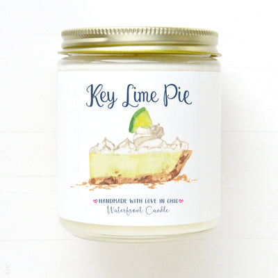Key Lime Pie scented soy wax candle by Waterfront Candle