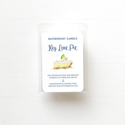 The Key Lime Pie scented natural soy wax melt by Waterfront Candle