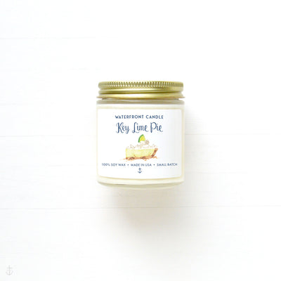 The Key Lime Pie scented 4 oz natural soy wax candle by Waterfront Candle