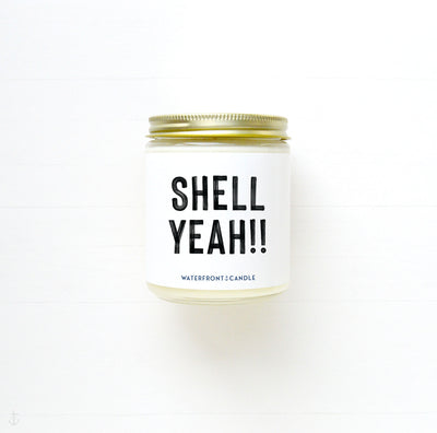 The Shell Yeah!! Mermaid Dreams scented 9 oz natural soy wax candle by Waterfront Candle
