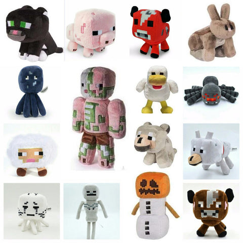 16styles Minecraft Game Animal Plush Stuffed Dolls Toys Price for 1pcs