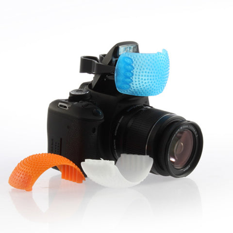 1Set Blue White Orange Diffuser Cover for Canon For Nikon Drop Shipping
