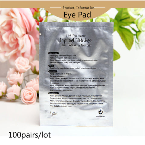 100pairs/lot Lint Free Eye Gel Paper Patches under Eyelash Extension Eye Pad for Eyelash Extension with Freeshipping
