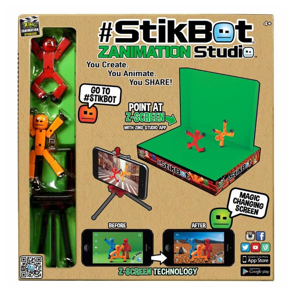 Stikbot Toy Sucker DIY Sticky Robot Studio Action Figure