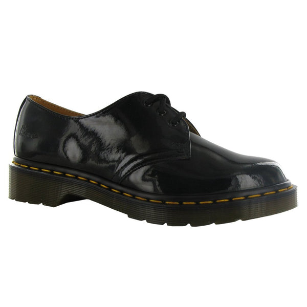 Dr.Martens 1461 Noir Patent Lamper Black Womens Shoes - 10084001#color_black