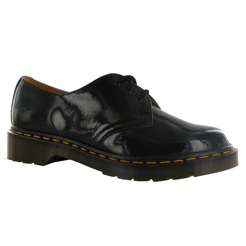 Dr.Martens 1461 Noir Patent Lamper Black Womens Shoes - 10084001