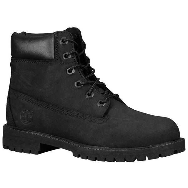 Timberland AF 6 Inch Premium Black Kids Boots - 12907#color_black