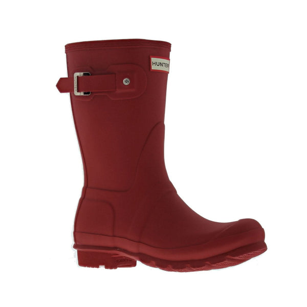 Hunter Womens Original Short Synthetic Boots#color_red