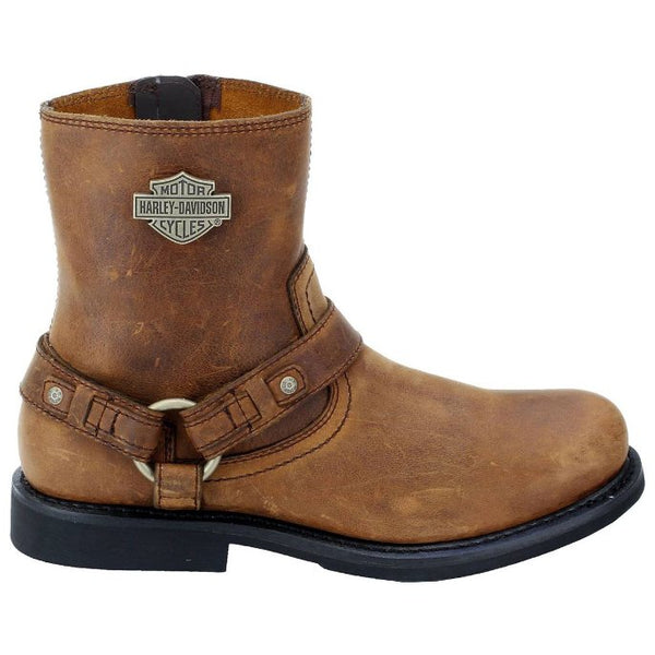 Harley Davidson Scout Harness Biker Brown Mens Boots#color_brown