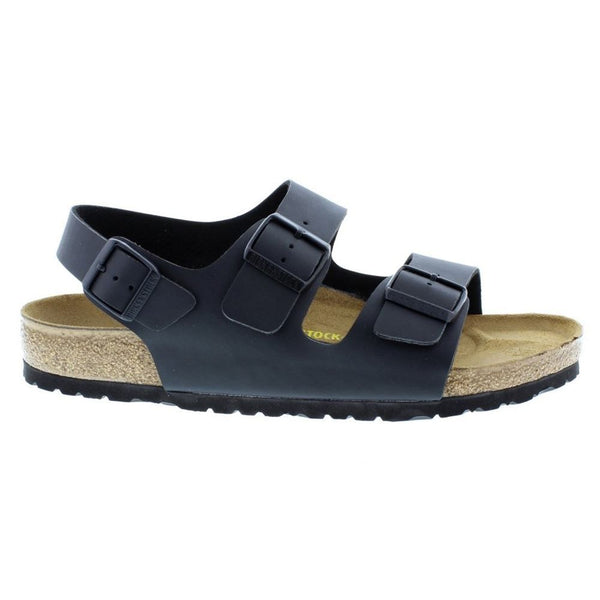 Birkenstock Milano Black Mens Sandals#color_black
