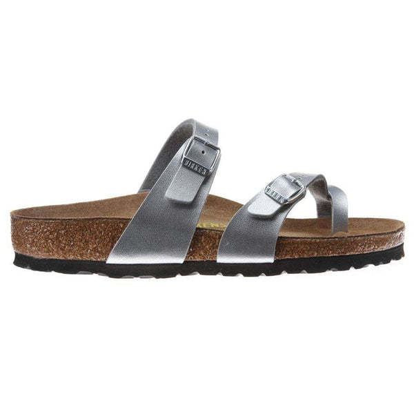Birkenstock Mayari Silver Womens Sandals#color_silver