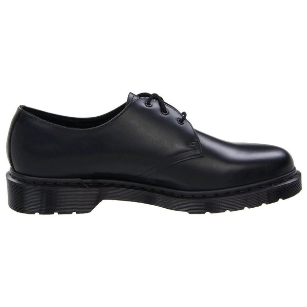 Dr.Martens 1461 3-Eyelet Mono Smooth Black Womens Shoes#color_black