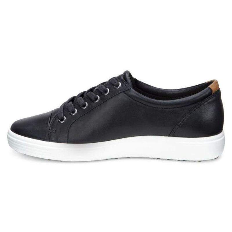 Ecco Soft 7 Low Cut Black Womens Trainers Sneakers