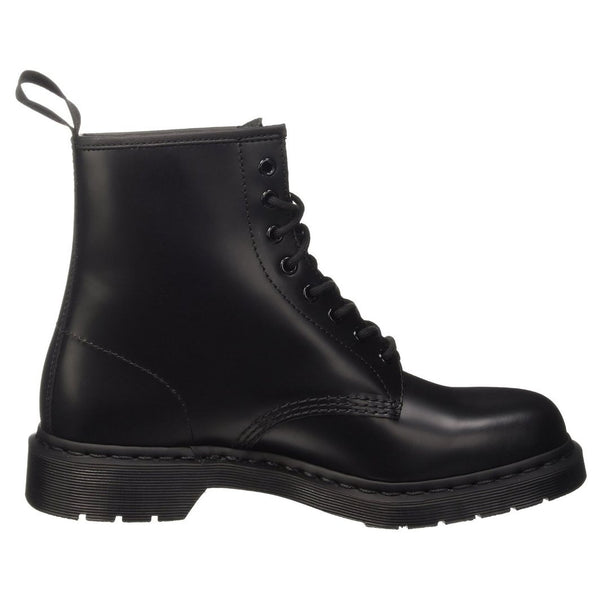 Dr.Martens 1460 8 Eyelet Mono Smooth Black Womens Boots#color_black