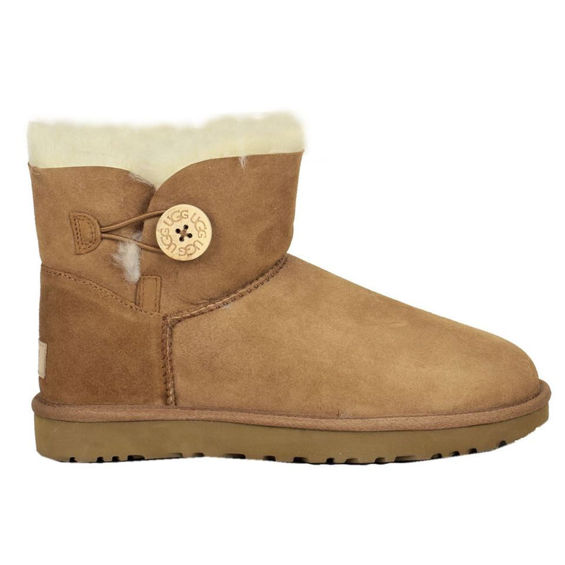 Ugg Australia Mini Bailey Button II Chestnut Womens Boots