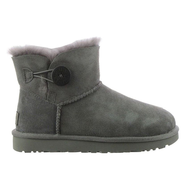 Ugg Australia Mini Bailey Button II Grey Womens Boots#color_grey