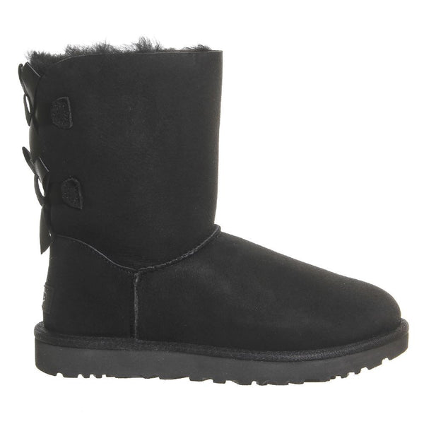 Ugg Australia Bailey Bow II Black Womens Boots#color_black