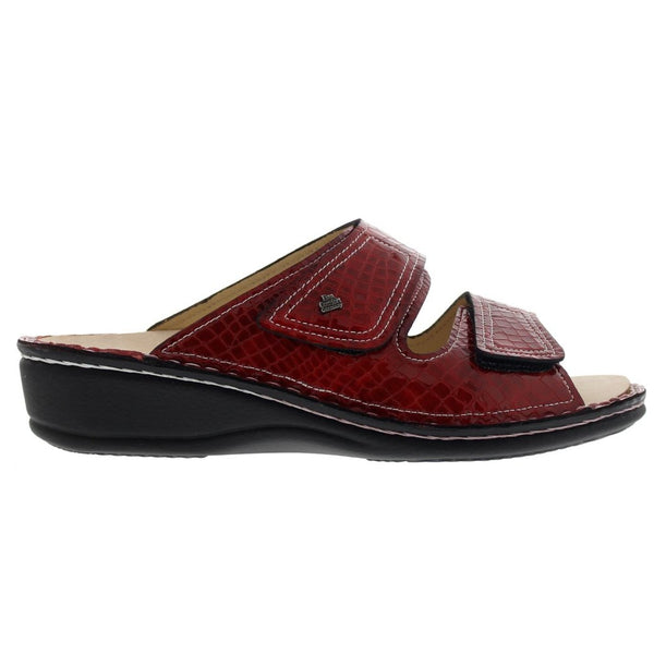 Finn Comfort 2519 Jamaica Paranalack Feuer Red Patent Womens Sandals#color_red patent