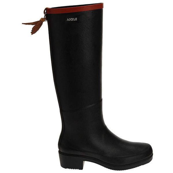 Aigle Miss Juliette A Tall Marine Womens Boots#color_black