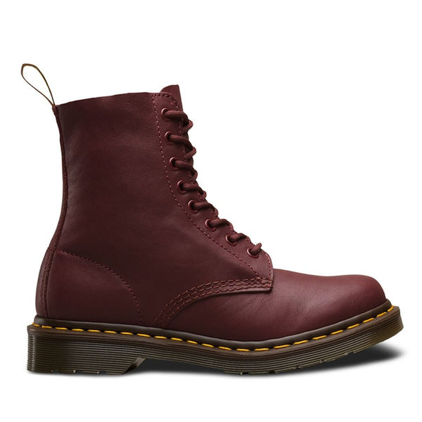 Dr.Martens Pascal 8 Eyelets Virginia Cherry Red Womens Boots#color_cherry red