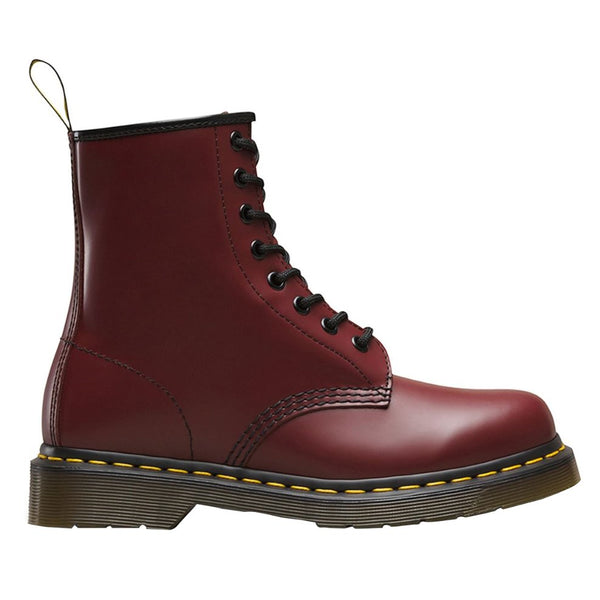 Dr.Martens 1460 8 Eyelet Smooth Cherry Womens Boots#color_red