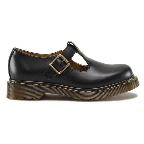 Dr.Martens Polley Smooth Black Womens Shoes#color_black