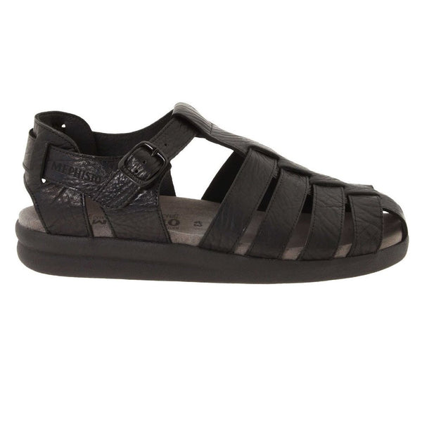 Mephisto Sam Black Mens Sandals#color_black