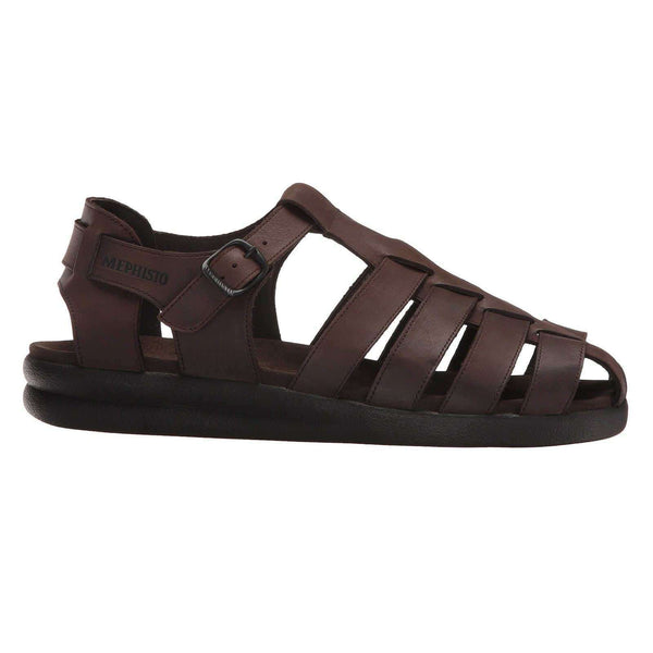 Mephisto Sam Dark Brown Mens Sandals#color_brown