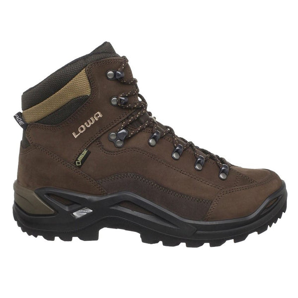 Lowa Renegade Gore-Tex Mid Brown Expresso Mens Boots#color_brown