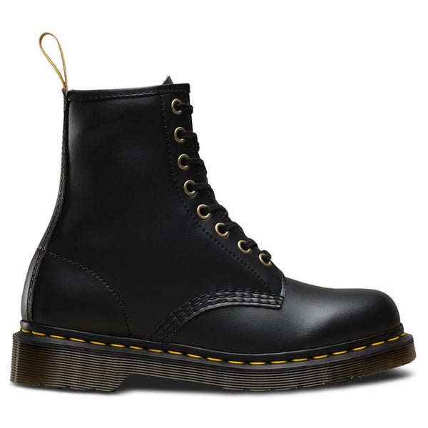 Dr.Martens Vegan 1460 Felix Rub Off 8 Eyelets Black Womens Boots#color_black
