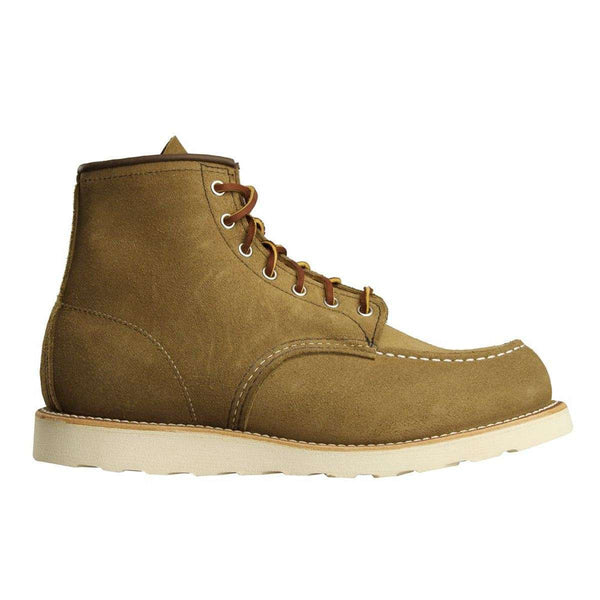 Red Wing Classic Moc Toe 8881 Olive Mens Boots#color_brown