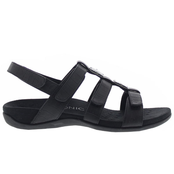 Vionic 44 Amber Black Womens Sandals#color_black