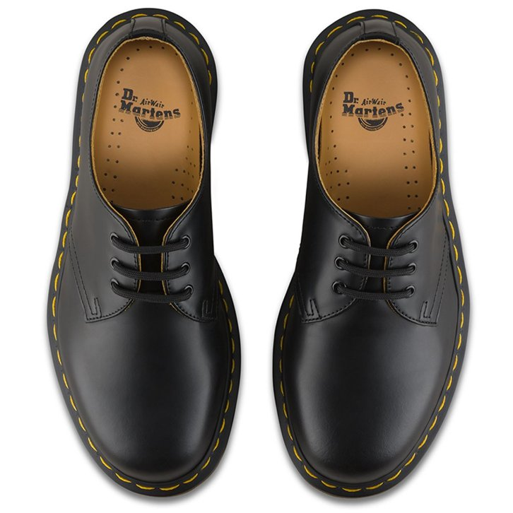 Dr.Martens 1461 3 Eyelet Smooth Black Mens Shoes